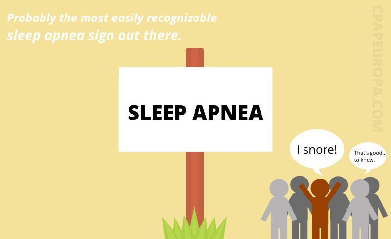 Funny image of a sleep apnea sign.