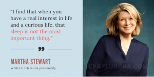 Martha Stewart Sleep Is Not The Most Important Thing Quote