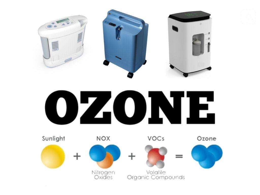 Ocygen concentrators for ozone sauna