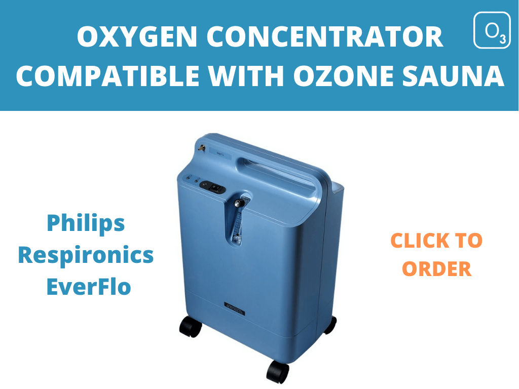Philips Respironics oxygen concentrator for ozone sauna.