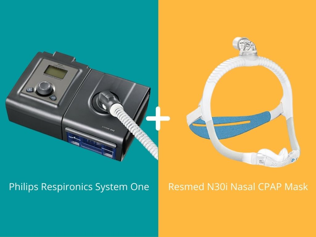 Respironics System One CPAP + Compatible CPAP Mask